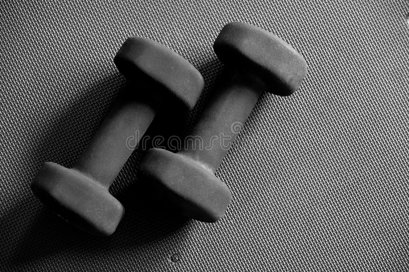 Download Black Dumbells stock image. Image of pound, build, muscle - 511181
