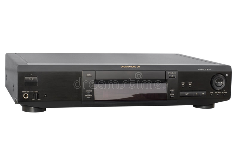 Black DVD Player royalty free stock photo