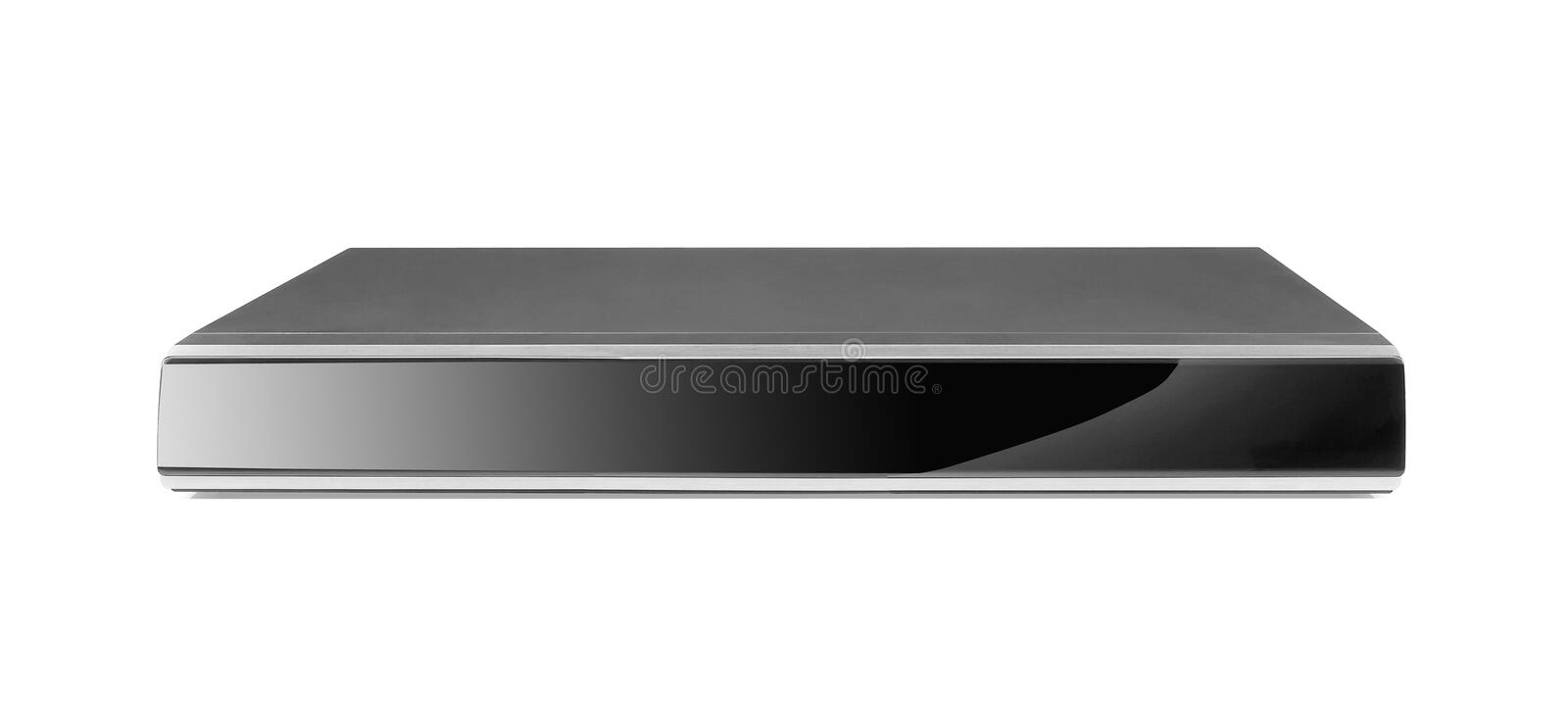 Black dvd player royalty free stock images