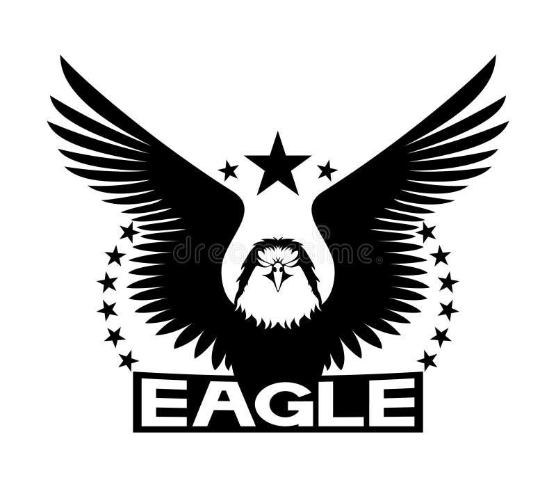 Black eagle sign. royalty free illustration