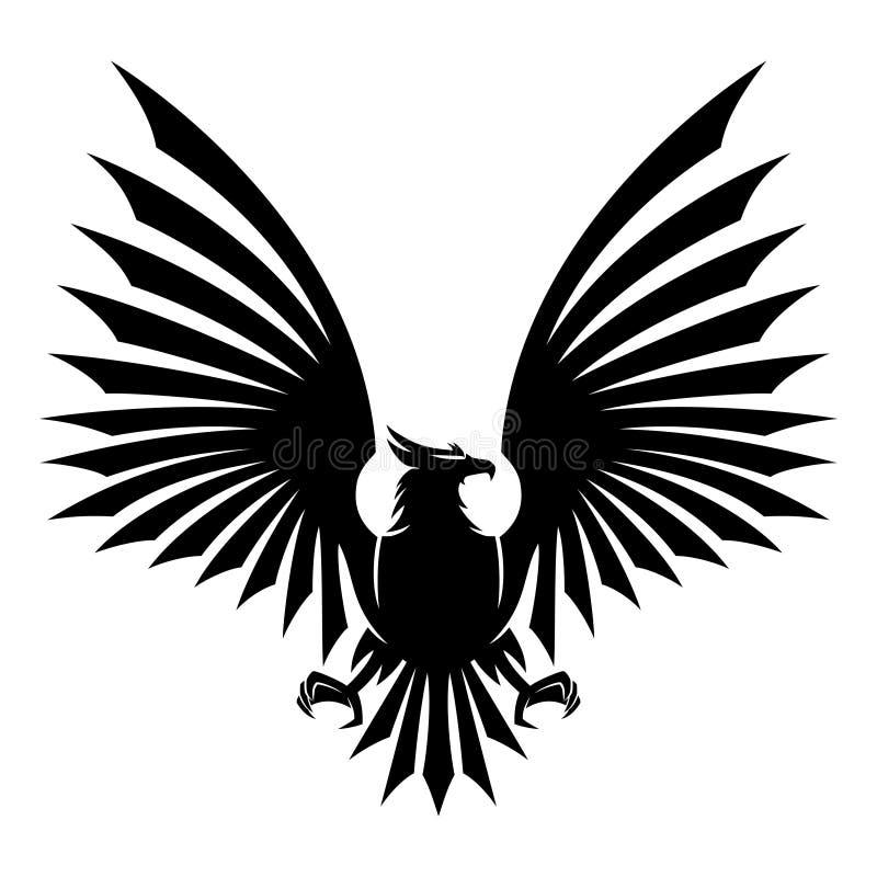 Black eagle sign. stock illustration