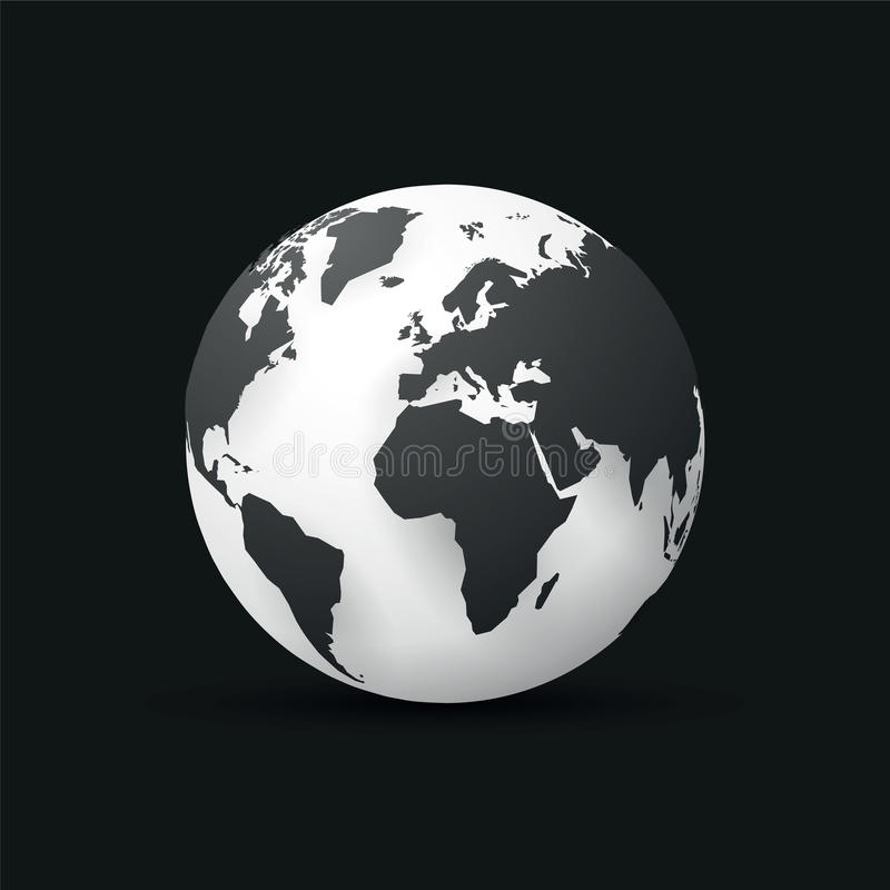 Black earth globe world map design stock illustration download black earth globe world map design stock illustration illustration of earth concept gumiabroncs Image collections