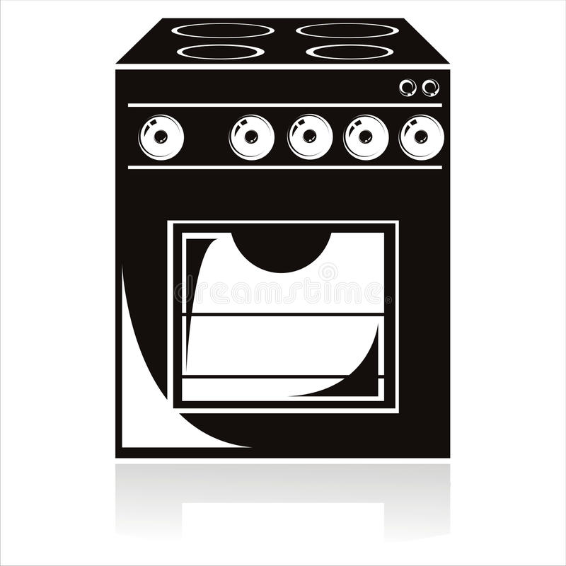 Download Black electric cooker icon stock vector. Illustration of technology - 19819484