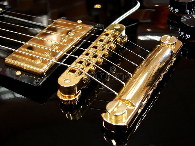 Black electric guitar royalty free stock photos