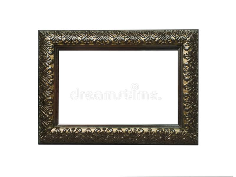 Photo frame on isolated white background royalty free stock images