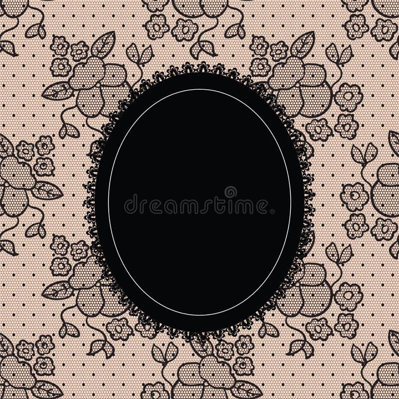Download Black Elegant Doily On Lace Background Stock Vector - Image: 25324809