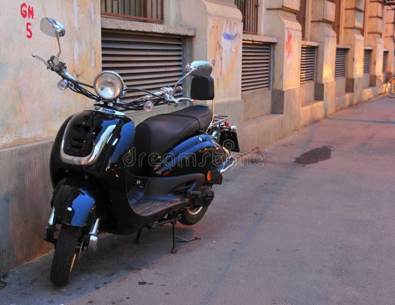 Black elegant scooter stock photos