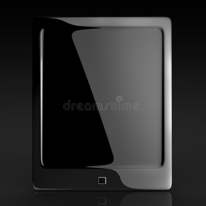 Download Black Elegant Tablet Touch Pad Stock Illustration - Image: 22496845