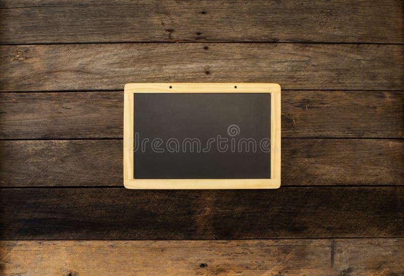 Black empty chalkboard stock photography