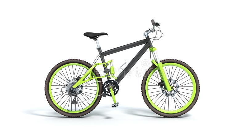 Black 29er mountain bike isolated on white background. Black 29er mountain bike isolated on white vector illustration
