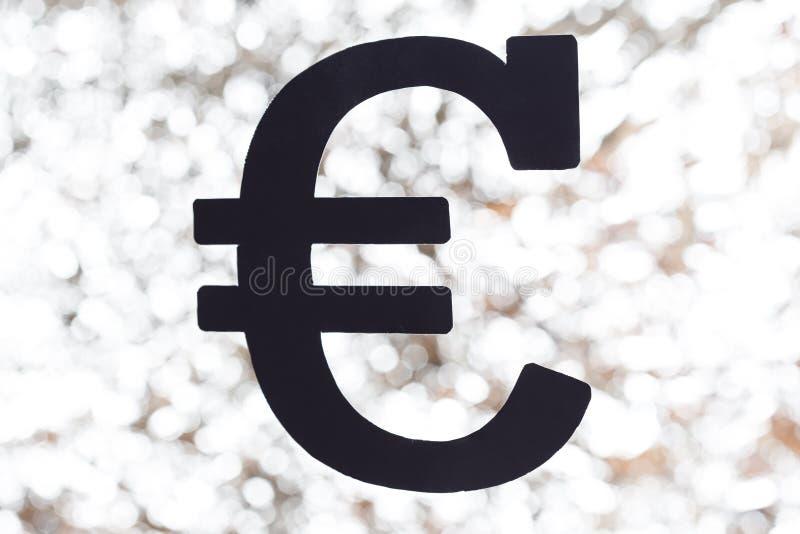 Black euro sign