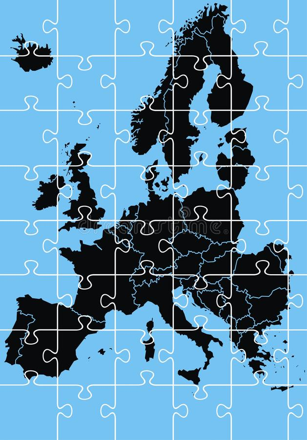 Download Europe map stock vector. Illustration of illustrated - 29890695