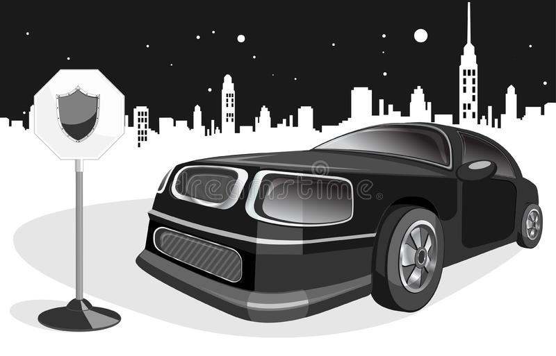 Download Black expensive car stock vector. Illustration of road - 18589805