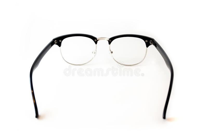 Black Eye glasses retro hipster look isolated on white backgroun royalty free stock photos