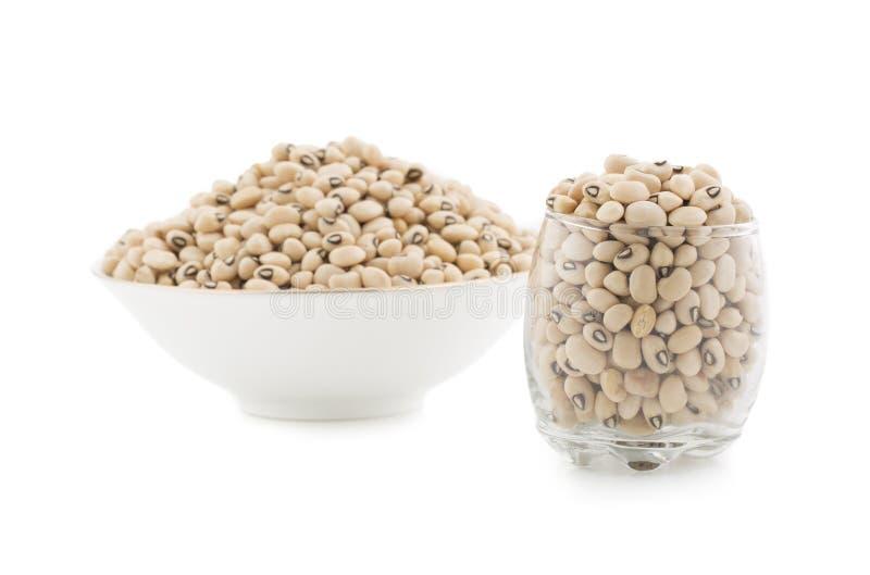 Black-eyed Beans. Group of fresh Black-eyed Beans stock images