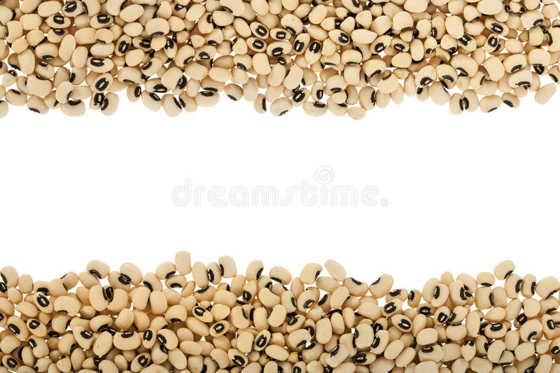 Black eyed peas. Arranged in a frame stock images