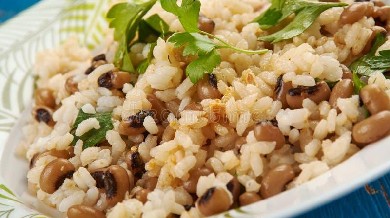 Black Eyed Peas i Rice obrazy royalty free