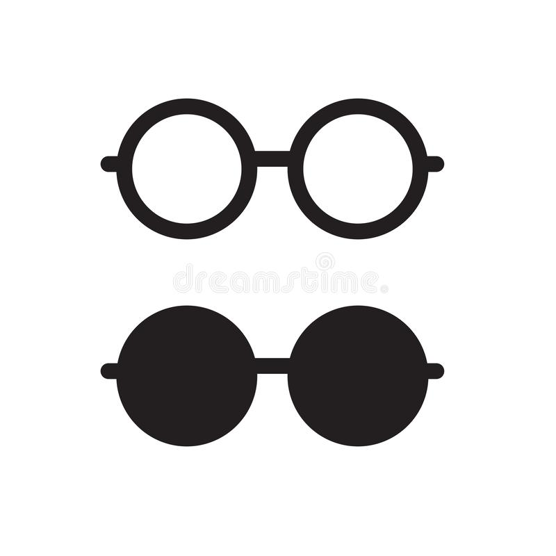 Black eyeglasses icon. Vector illustration royalty free illustration