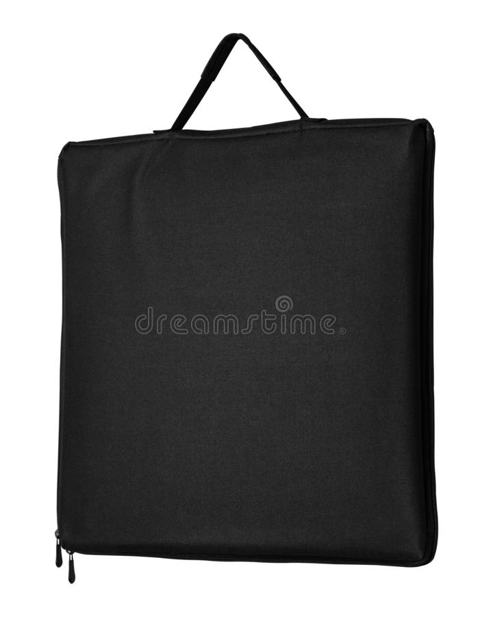 Black fabric bag isolated on white background. Shopping canvas bag for design. Clipping path. Black fabric bag isolated on white background. Shopping canvas bag vector illustration