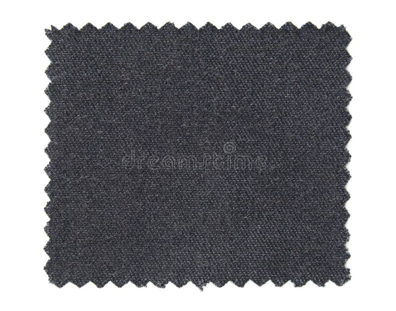 Black fabric swatch samples isolated on white stock image