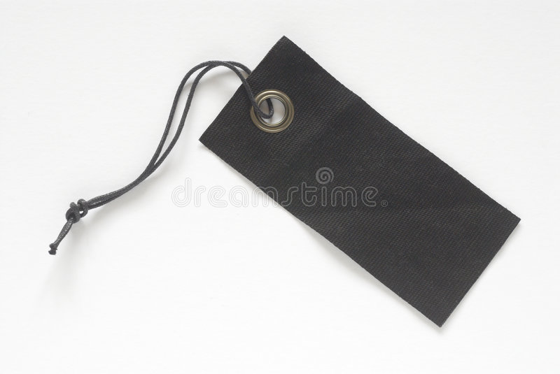 Black fabric tag royalty free stock image