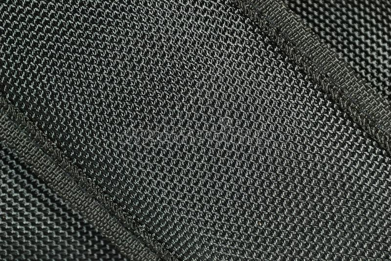Black Fabric Texture Background. Close Up Black Fabric Texture Background stock image