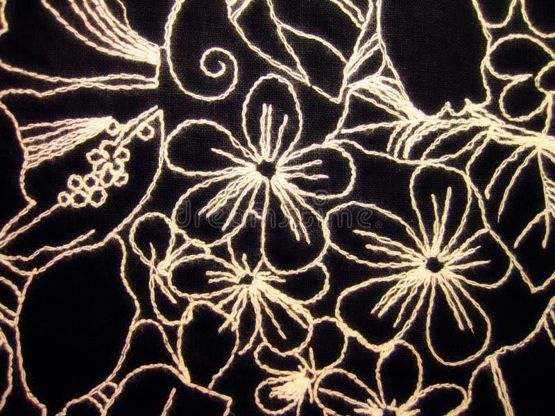 Black fabric texture royalty free stock photo