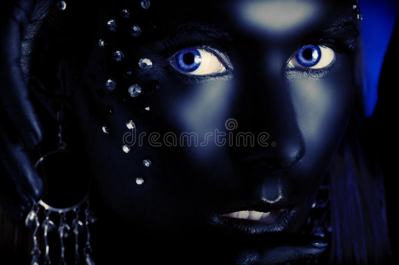 Black face royalty free stock photography