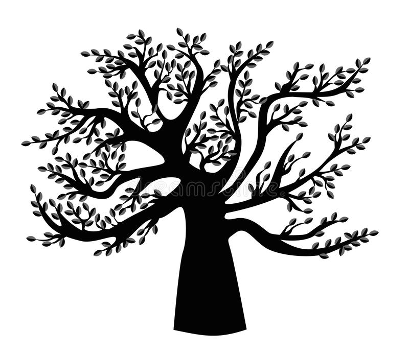 Black family Tree template. royalty free illustration