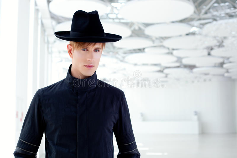 Download Black Far West Modern Fashion Man With Hat Stock Image - Image: 23308653