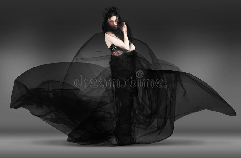 Download Black Fashion The Dark Movement In Motion Stock Image - Image of background, glamour: 28853203