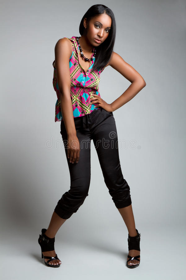 Black Fashion Model royalty free stock photography