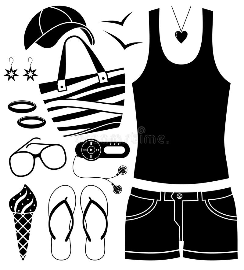 Black Fashion Set. Stock Image