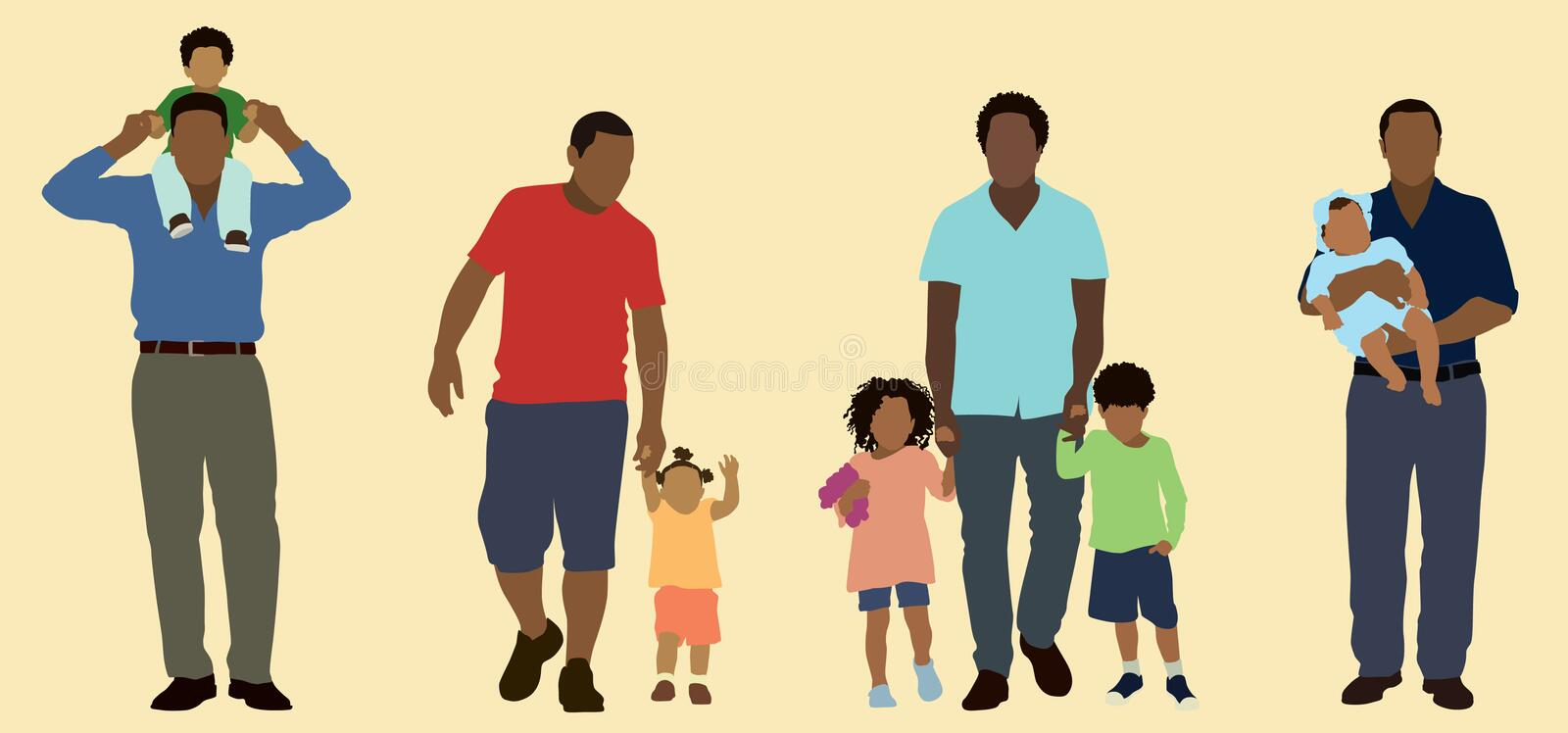 Download Black Fathers stock vector. Image of male, girl, african - 28503962