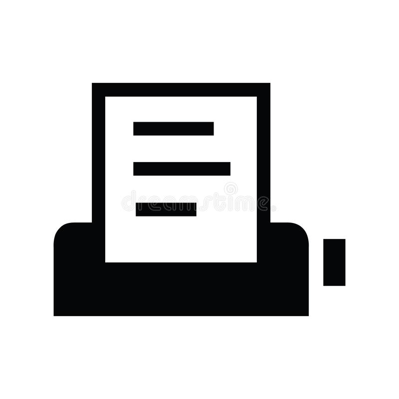 Black Fax symbol for banner, general design print and websites. Illustration vector royalty free illustration