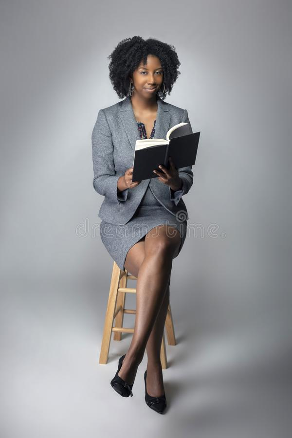 Black Female Author or Teacher in a Studio royalty free stock photo