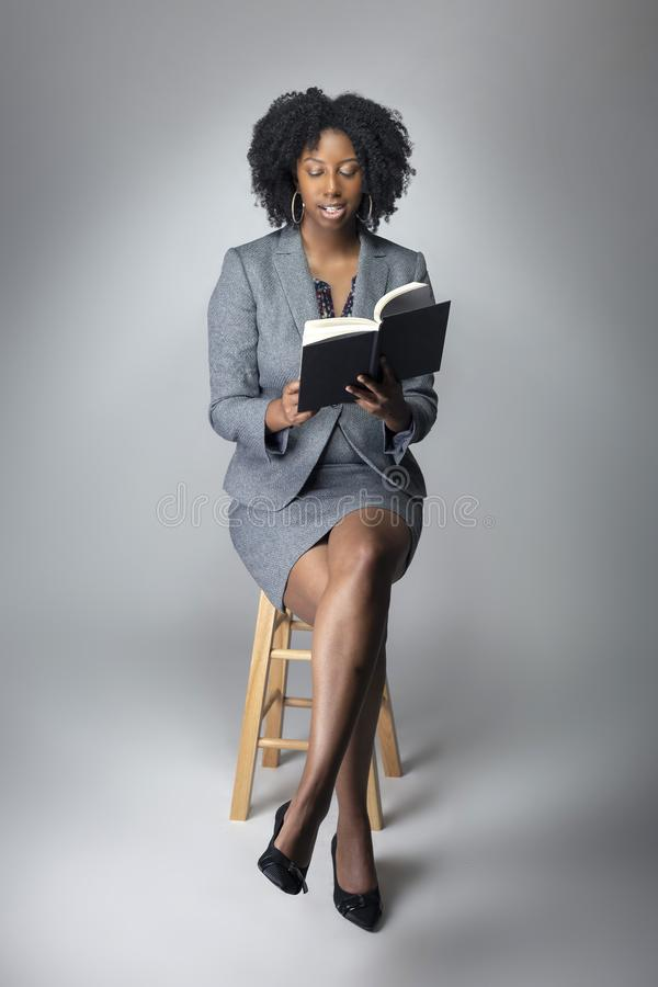Black Female Author or Teacher in a Studio stock images