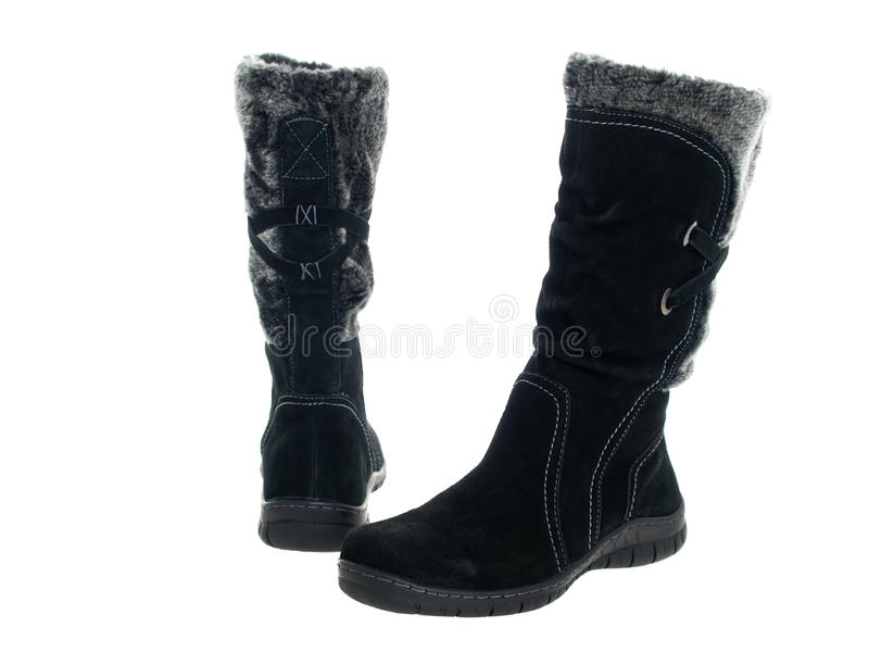 Download Black female boots stock image. Image of dress, buckle - 17433945