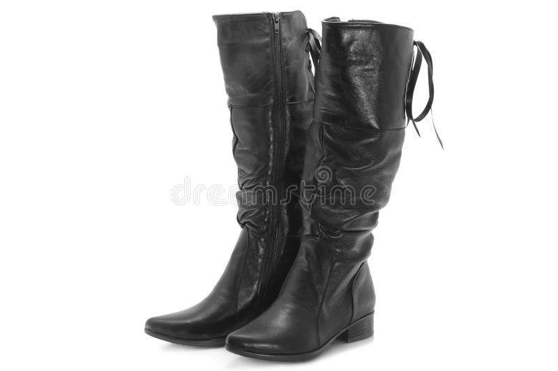 Black Female Boots Royalty Free Stock Image