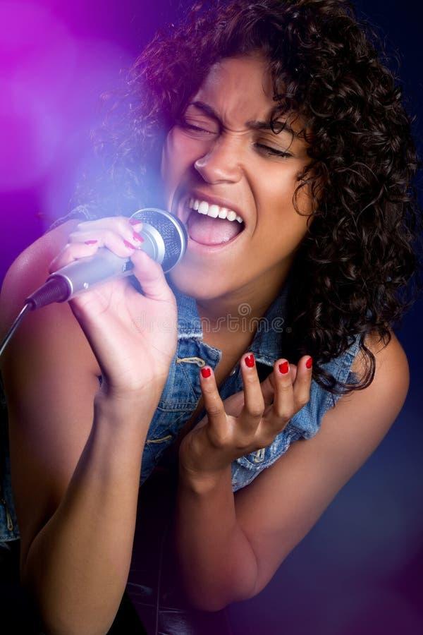 Black Female Singer royalty free stock image