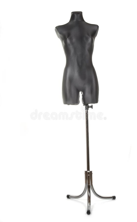Black female tailors dummy mannequin with stand. royalty free stock photo