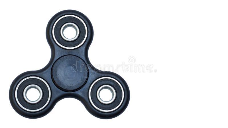 Black Fidget Spinner isolated on white background. copy space, template. Black Fidget Spinner isolated on white background. copy space, template stock photo