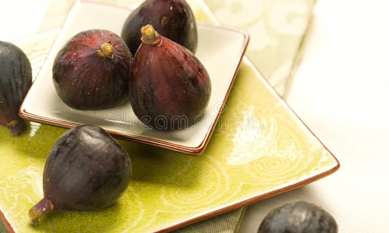 Download Black Figs stock image. Image of square, small, plate - 10064091