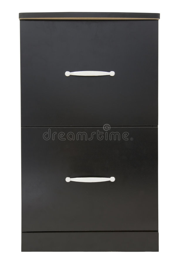 Black file cabinet royalty free stock photos