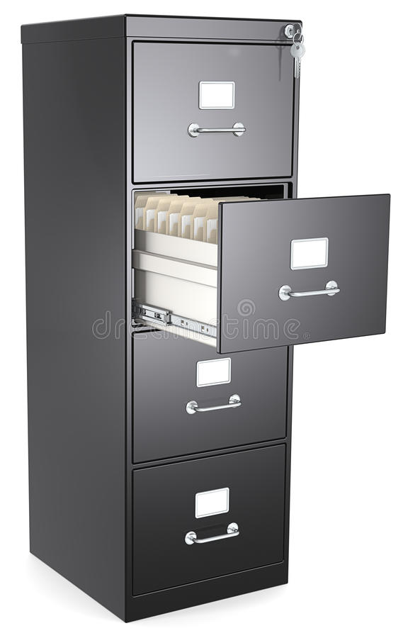 Black File Cabinet. stock illustration