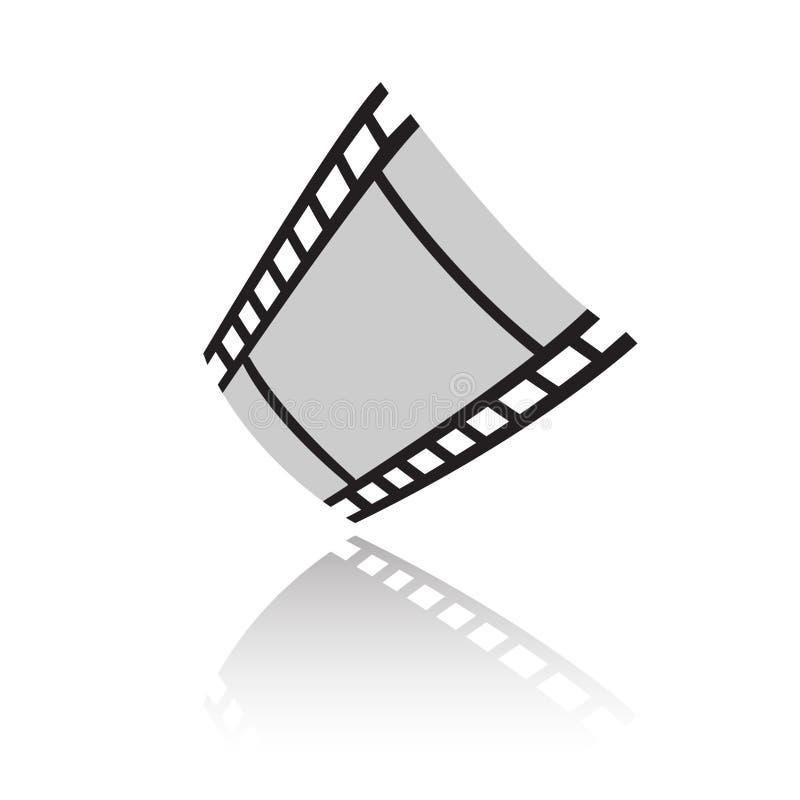 Black film stock illustration