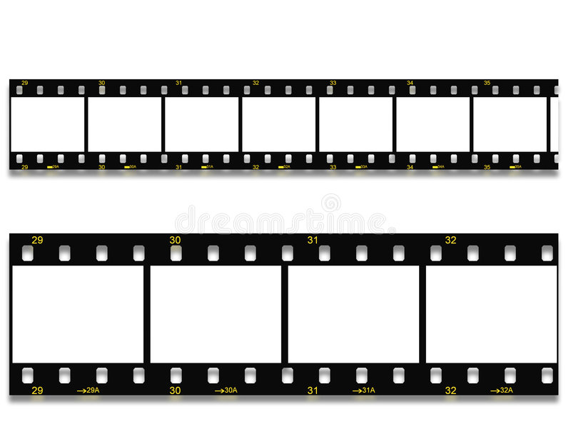 Black Film Still, Negative 35mm Stock Photography