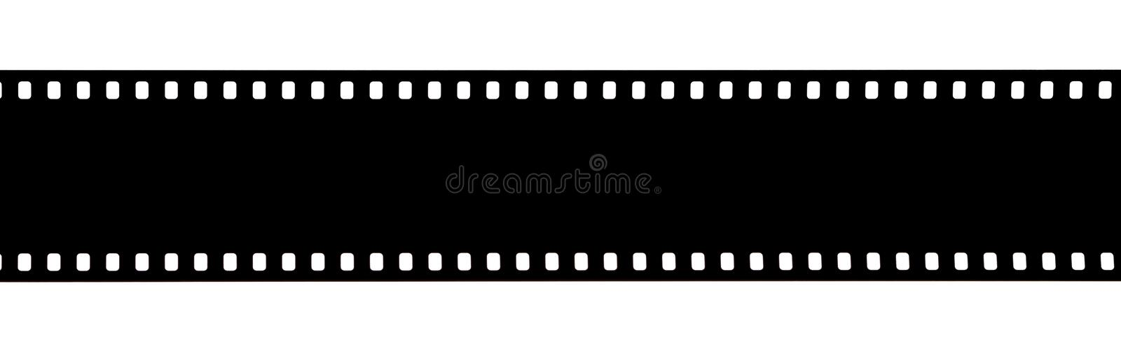 Black film strip isolated on white royalty free stock images