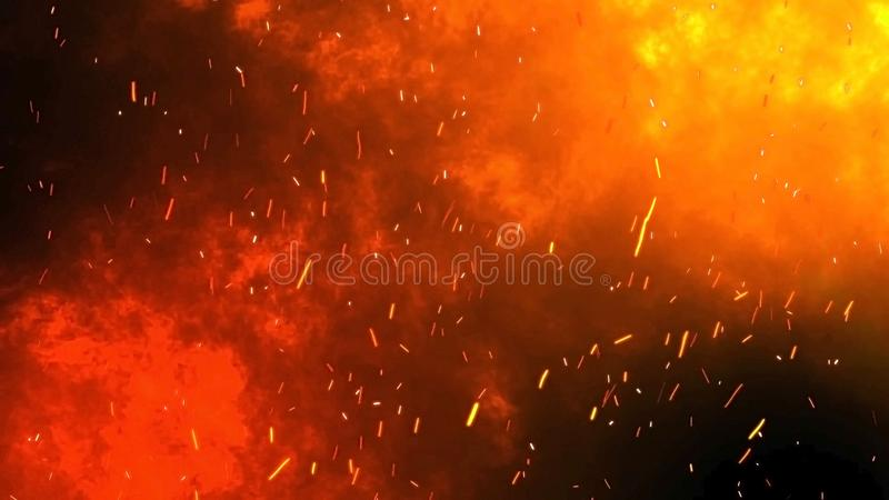 Black Fire Background With Sparks From Fire Stock Photo Image Of Light Black 163433690