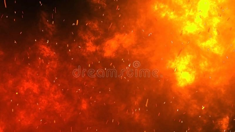 Black Fire Background With Sparks From Fire Stock Image Image Of Burn Embers 163433689